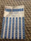 1976 Ford Bronco Owners Manual User Guide Reference Operator Book Fuses Fluids