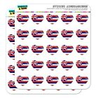 Hawaii HI Home State Flag Licensed Heart Planner Scrapbook Craft Stickers