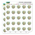 Tropical Yellow Hibiscus Hawaii Flower Heart Planner Scrapbook Craft Stickers