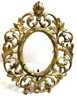 Antique Baroque Style Gilded Metal Iron Photo Picture Frame