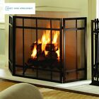 Mission Style 3 Panel Fireplace Screen Pleasant Hearth 100 Steel