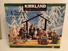 Kirkland Signature 14 PC Porcelain Nativity Set 75177 100 COMPLETE w Wood