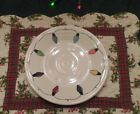 FIESTA STRING OF LIGHTS Homer Laughlin CHRISTMAS  LUNCHEON PLATE 9 IN