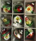 Vtg 2009 Christopher Radko Shiny Brite Christmas Ornaments Indents RARE Shapes