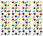 Frances Meyer Colorful MUSIC NOTES  Hearts Scrapbook Stickers 8 Sheets