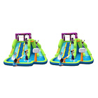Kahuna Triple Blast Kids Inflatable Splash Pool Backyard Water Slide 2 Pack