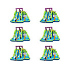 Kahuna Triple Blast Kids Inflatable Splash Pool Backyard Water Slide 6 Pack