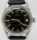 VINTAGE 1962 TUDOR PRINCE OYSTERDATE WATCH MEN'S AUTOMATIC BLACK DIAL REF# 7962