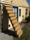 Architectural Salvage Stairs Display Shelf Old Primitive Stairway Mustard Paint