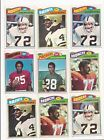1977 TOPPS FOOTBALL --- 62 CARD LOT WITH DUPLICATES