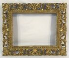 Antique Italian Hand Carved Gold Gilt Frame 7 1/2 x 10 Opening