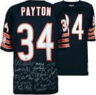 1985 Chicago Bears Team Signed Walter Payton Mitchell & Ness Authentic Jersey