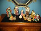 KIRKLAND Signature 10 PIECE PORCELAIN NATIVITY Set Retired Rare 10tall Nice