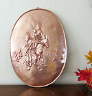 COPPER HOLY FAMILY NATIVITY Wall Art Plaque Hammered Repousse 25 Tall