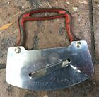 Stainless Steel Cast Iron Red Handle Chopper  Vintage Antique
