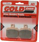 Benelli TNT 899S Tornado Naked TRE Brake Disc Pads Rear R/H Goldfren 2007-2010