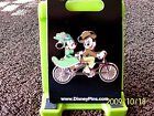 Disney  MICKEY  MINNIE on TANDEM VINTAGE BICYCLE  Trading Pin New on Card
