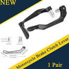 2X Carbon Fiber Aluminum Motorcycle Brake Clutch Levers Handlebar Protect Guard