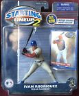 2001 Starting Lineup  MLB Ivan Rodriguez - Texas Rangers - Brand New