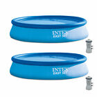 Intex 13 x 32 Easy Set Above Ground Swimming Pool Kit  530 GPH Pump 2 Pack