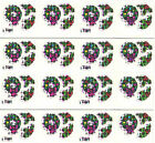 BIG LOT Christmas Wreaths Laser Stickers 80s or 90s