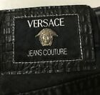 Vintage Versace Couture Jeans Size Black Classic Straight 30x29 Italy Medusa