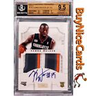 2012-13 Kemba Walker National Treasures Gold RC Rookie Patch Auto 5 BGS 9.5 10