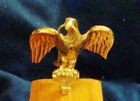 Solid Brass Eagle Finial Clock Wood Craft Project Statue Medal Mount Shadow Box
