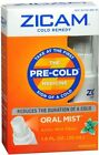 Zicam Cold Remedy Oral Mist Arctic Mint Flavor Pre-Cold Medicine 1 oz (12 Pack)
