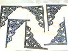 SIX Cast Iron Wall Shelf Brackets small braces
