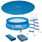 Intex 15 x 48 Easy Set Above Ground Inflatable Pool with Pump and Solar Cover