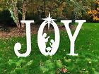 JOY Nativity Sign Display Yard Art Outdoor Holiday Decor