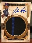 2018 Topps Five Star Pedro Martinez Jumbo 2CLR Patch Auto 16 25 Mets