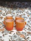 Vintage FIRE KING Stacking Coffee Cup Mugs - Set of (4) -  ORANGE