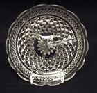 Anchor Hocking Wexford Crystal Clear Diamond Cut Glass 3 Parts Divided PLatter