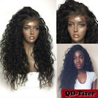 180% Density Synthetic Lace Front Wigs Long Loose Curly Hair Black Women Natural