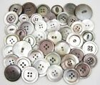 Antique Vintage Shell Buttons ~ Smoky Pearl Abalone ~ Mixed Lot Medium