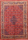 Excellent Geometric Red Room Size 7x10 Mahal Sarouk Persian Oriental Area Rug