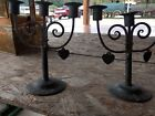 Crafts Goberg Iron Heart Candelabra for Repair or Parts