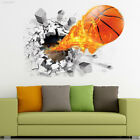 7455 3D Basketball Removable Wall Stickers Decor Kid's Room Bedroom Mural Decals