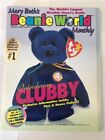 Mary BETH's Ty Beanie World Monthly 1998 Vol 1 No.7 with a Clubby Poster