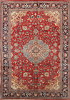 Excellent Vintage Floral Red Room Size 7x10 Sarouk Persian Oriental Area Rug