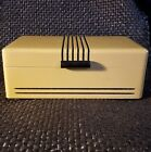 Vtg 1930s ART DECO Man's Jewelry-Trinket WOOD BOX Hinged-Dovetailed-Mirror Lined
