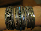 Lot of Sterling Silver Jewelry,Sergio Lub bracelets and turquoise cross13 pieces