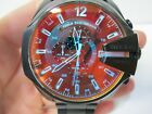 Diesel Mega Chief Black Ion-Plated Chronograph Running Men's Watch