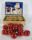 Vintage MIXED LOT (12) Shiny Bright Ornament Glass Red Christmas Balls