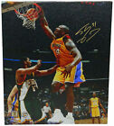 Shaq SHAQUILLE O'NEAL Signed Los Angeles Lakers One Hand Dunk 20x24 Canvas - SS