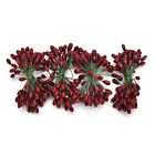 100X Artificial Red Holly Berry On Wire Bundle Garland Wreath Making Christma XR
