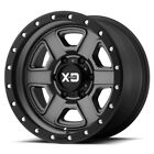 18 inch Grey Black XD Series XD133 Wheels Rims Jeep Wrangler JK and Rubicon NEW