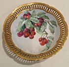 Antique Hand Painted Dish with Red Cherries (Made in Occupied Japan)